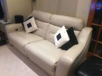 Full set of reclining leather sofas - practically NEW!