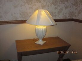 Cream Table Lamp