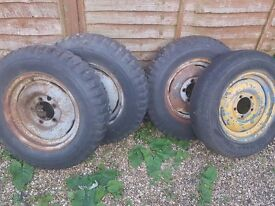 willys jeep wheels or tyres wanted, bar grip, old scruffy looking