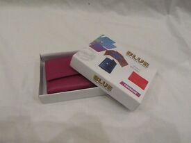 PINK AND BLUE REAL LEATHER PURSES **BRAND NEW**