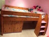 Stompa Mid Sleeper Bed with Matching Furniture.
