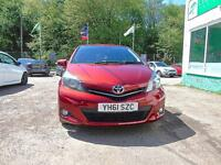 TOYOTA YARIS 1.3 VVT-i SR ***BUILT IN SATNAV+++BLUETOOTH+++FDSH*** (red) 2011