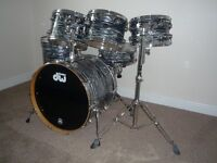 6 Piece DW Collectors Series Kit Black Oyster Finish Ply
