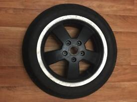 Vespa GT GTS Front Wheel With Tyre Black