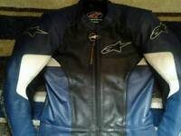 Alpinestar motorbike leather jacket and Trousers