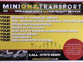 (Minionz Transport )Man and van , collection and delivery service