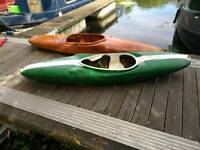 2x Kayak Canoes with paddles and life jackets