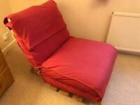 Single Futon style chair/bed - IKEA