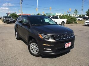 2018 Jeep Compass SPORT 4X4**COLD WEATHER GROUP**ONLY 1442KM'S!!
