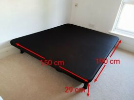 Double bed frame 150x190cm wrapped in air fabric
