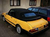 SAAB 900 2.0 16v 2dr Convertible LEFT HAND DRIVE/Classic/Rare/Yellow/New Hood/Great Investment/LHD!
