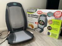 HoMEDICS Gel Shiatsu Back Massager with Heat+remote control