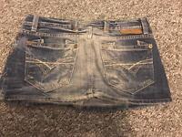 River island denim skirt size 10