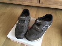 Geox boys brown/grey trainers