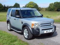 LANDROVER DISCOVERY 3 HSE AUTO 7 SEAT SILVER BLACK NAPPA LEATHER
