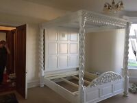 Four Poster Bed and Matching Mirror