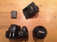 Nikon D3200 Digital SLR Camera with 18-55mm VR Lens Kit - Black (24.2MP)