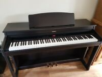 Roland Digital Piano HP530e in superb condition. 2 earphone, 1 microphone socket. Fully loaded £550