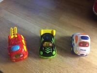 3 x toot toot cars