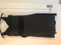 Women's black and white polka dot dress