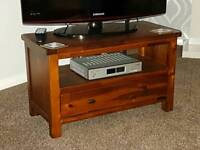 Solid wood tv stand was £165 new