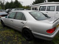 mercedes e 300 parts from 1999 car silver