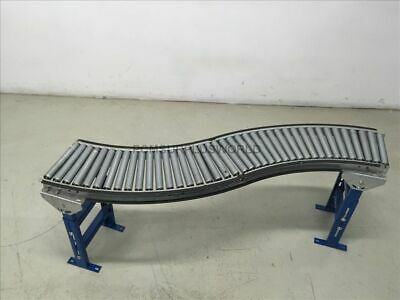 Unex Gravity Conveyor S Shape Roller Conveyor 12x 65x26.5 High Used Tested