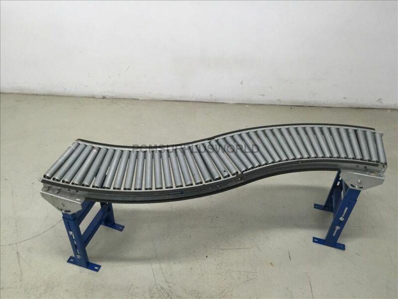 "Unex Gravity Conveyor S Shape Roller Conveyor 12""x 65""x26.5"" High (Used Tested)"