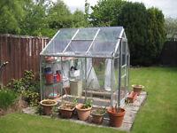Greenhouse - aluminium 6' x 6' approximately