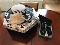 Navy Blue Hat, Shoes and Clutch (Ideal for Weddings)