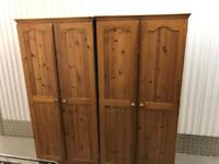 2 X matching Wardrobes with FREE DELIVERY