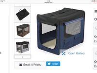 Soft foldable dog crate