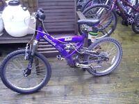 Child's Reebok Duel Suspension Bike GT 605