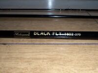"""SHAKESPEARE """"BLACK FLY"""" FLY FISHING ROD CARBON FIBRE 3 PIECE 8' - 1602-240"""