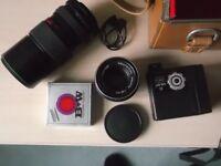 Praktica PLC film camera, lens and other equipment