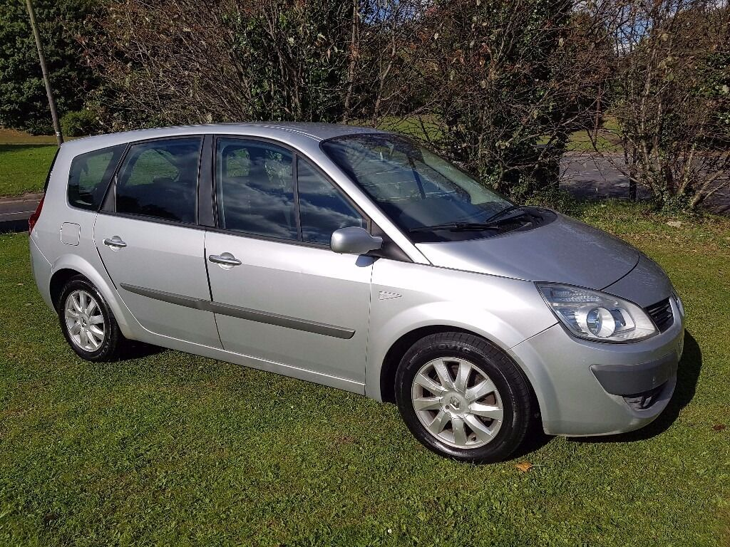 2008 renault grand scenic 1 6 vvt dynamique 7 seater mot feb 2017 new timing belt great family. Black Bedroom Furniture Sets. Home Design Ideas