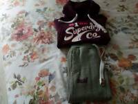 SUPERDRY HOODIE AND JOGGERS