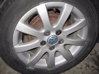 2006 VW 9N3 POLO 1.2 1.4 SET OF 4 ALLOY WHEELS TYRE SIZE 185 60 14