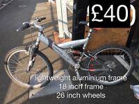 Adult gents or ladies lightweight Aluminium frame mountain bike MOUNTAIN BIKE £40 -£70