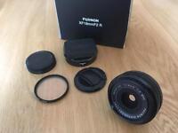 Fujifilm XF18mm f2.0 Fujinon lens