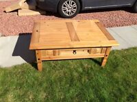 Corona solid pine coffee table