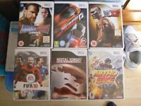 6 Wii GAME'S