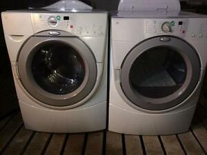 Whirlpool Front Load Matching Washer and Dryer, FREE WARRANTY