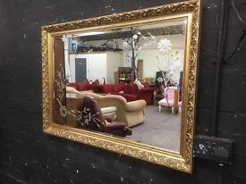 Fabulous quality heavily engraved large mirror