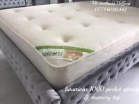 ✅✅ LUXURIOUS HALF PRICE ~ 1000 POCKET SPRUNG & DEEP MEMORY TOP ORTHO MATTRESSES