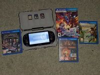 Ps vita with four games and 16gb memory stick For sale or swap for a nintendo 3ds with games