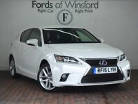 LEXUS CT 200H 1.8 ADVANCE 5DR CVT AUTO (white) 2015
