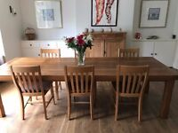 Large dining table and 7 chairs