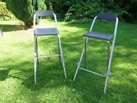 A pair of lovely breakfast stool with foot rest for sale