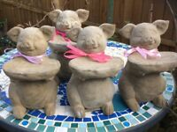 Handmade Garden or indoor pigs